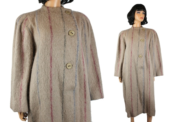 Designer Coat Sz 8 M Vintage 80s Pauline Trigere B