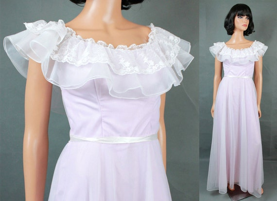1970/'s wine colored formal gown  matching chiffon cape  bridesmaid dress  ML