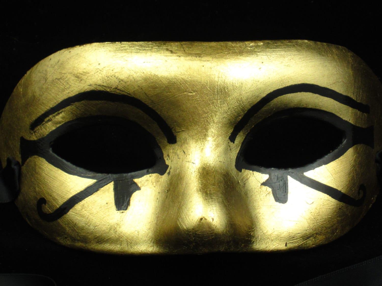 Eye of Horus Eye of Ra Mask gold leafed paper mache | Etsy