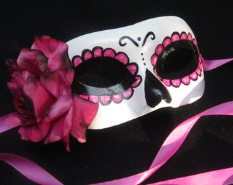 Rosa Electrico Mask, Day of the Dead/Dia de los Muertos/Halloween/Masquerade
