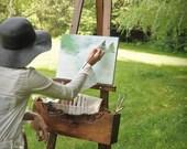 artist easel. painters easel,