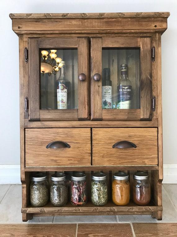 Danica Spice Rack Spice Pantry Kitchen Cabinet Kitchen Etsy