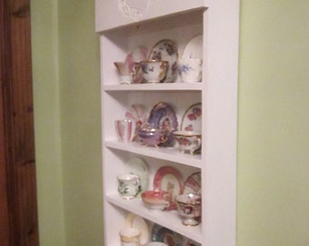 tea cup shelf. collectors shelf, 12 cup Cardinal pattern