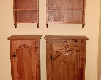 wood cupboard, kitchen cupboard, canning cupboard