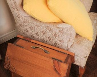 Magazine rack,  newspaper rack, yarn rack, sewing box, coverd magazine rack, home decor.