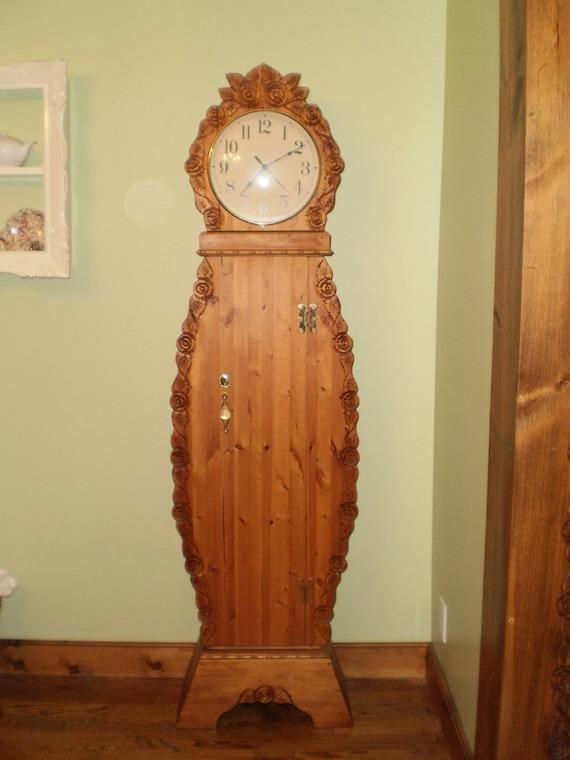 Delicieux Grandmother Clock Grandfather Clock Storage Clock | Etsy