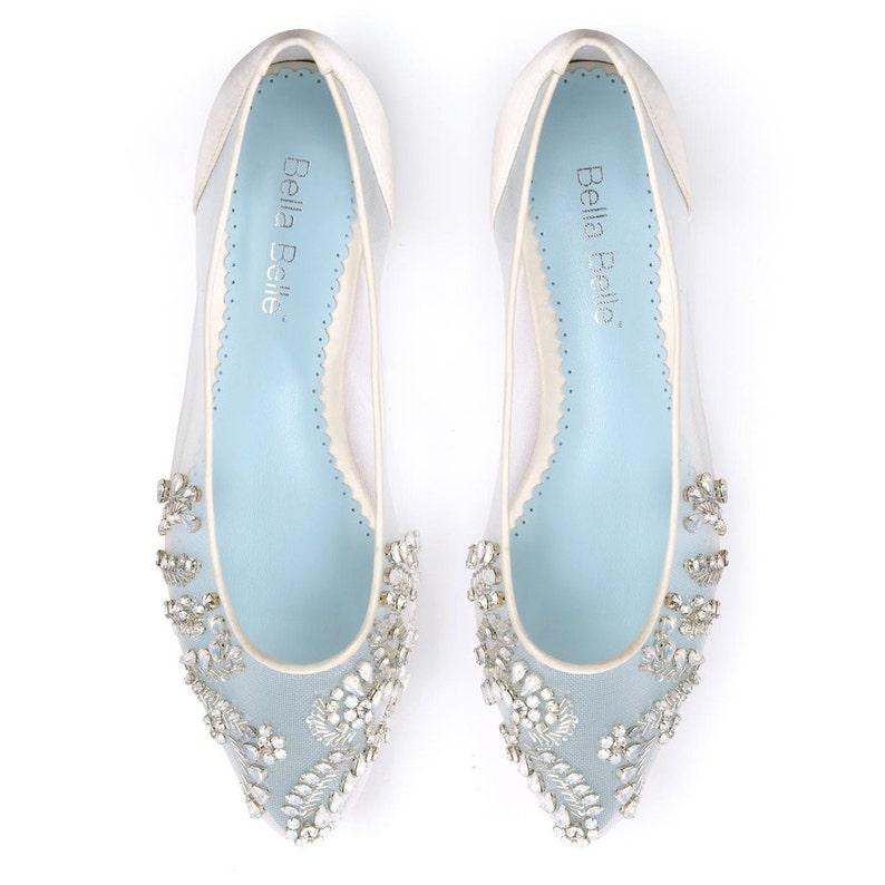 a8f9241bc Beautiful Wedding Flats with Opal and Crystal Beading Bridal | Etsy