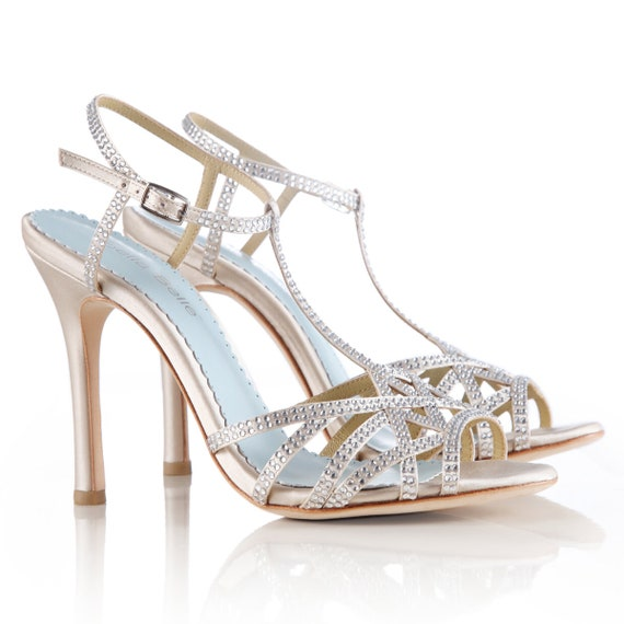 Strappy Champagne Heels