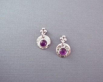 Amethyst Earrings, February Birthstone Jewelry, Post Earrings