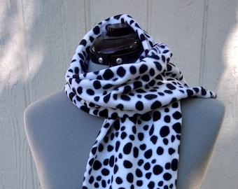 Dalmatian Dalmation Dot Print Fleece Scarf