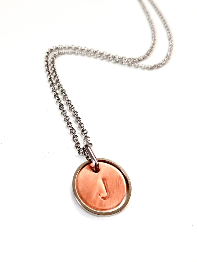 Initial Necklace for Men. Personalized Guy Necklace. Geometric image 0