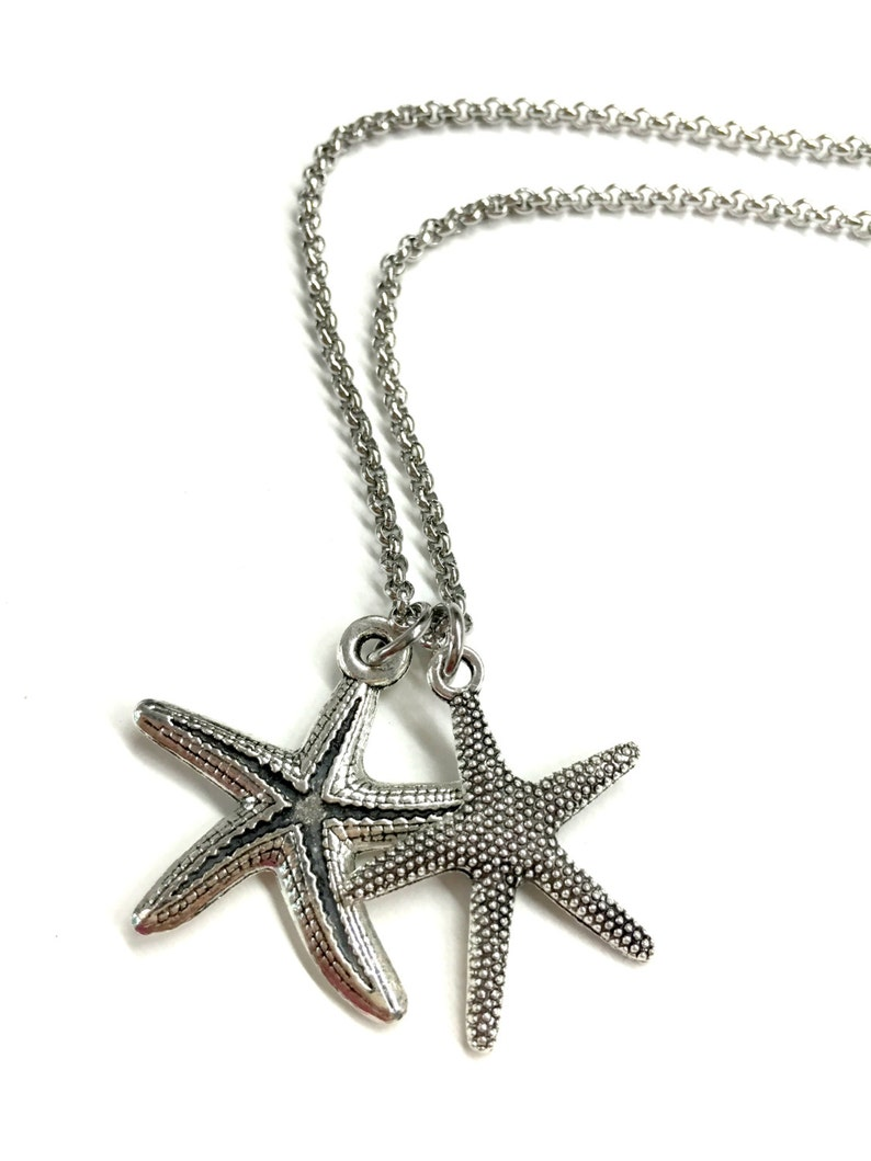 Guy Pendant Necklace Gift for Boyfriend Beach Jewelry for Him and Her Mens Starfish Necklace Stainless Steel Chain Necklace