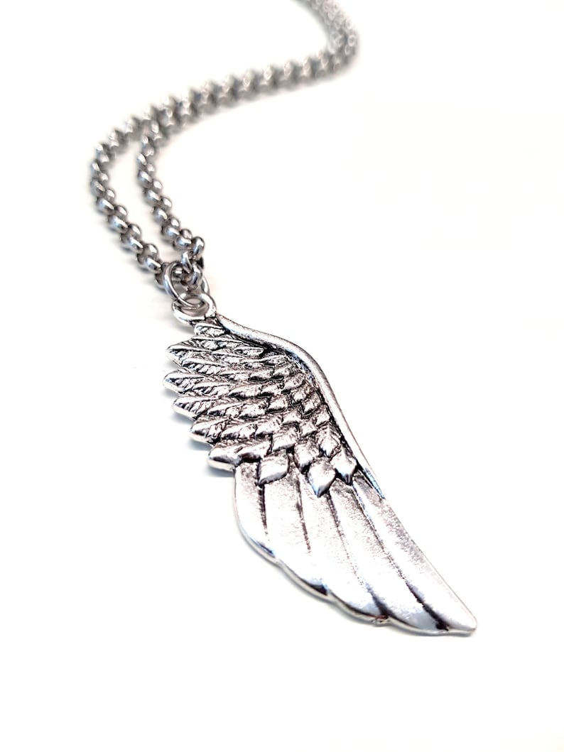 Angel Wings Necklace f/ Men. Cool Guy Pendant Necklace. image 0