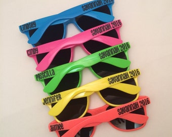 d30a6c1cc3 Personalized Sunglasses   Party Favors by PersonalizedMom on Etsy