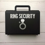 Ring Security Briefcase, Ring Bearer Briefcase, Ring Security Case, Ring Security Box, Ringbearer Gift, Ring Bearer Pillow Alternative