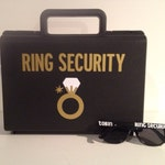 Ring Security Briefcase, Ring Bearer Pillow, Ring Security Case, Ring Security Box, Ring bearer Gift, Ring Bearer Pillow Alternative