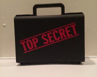 Top Secret Case, Secret Agent, Ring Bearer Gift, Ringbearer gift, Ring Agent, Ring Security, Dress up