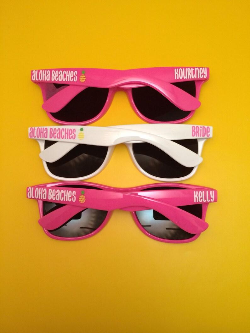Bachelorette Party Favor Personalized Sunglasses Bride image 0