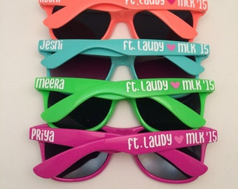 Personalized Sunglasses, Bachelorette party, Bachelorette favors, groomsmen gift, bridesmaid gift, maid of honor gift, Custom sunglasses