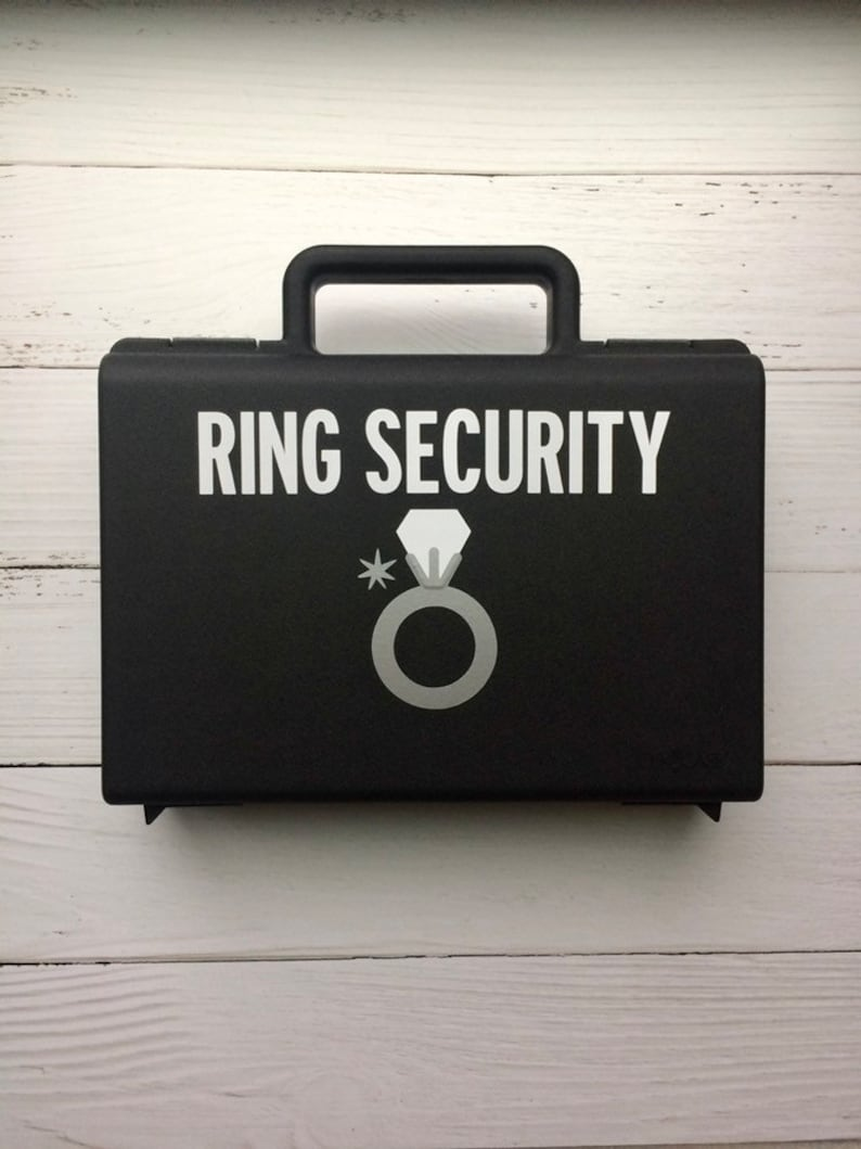 Ring Security Briefcase Ring Bearer Briefcase Ring Security image 0