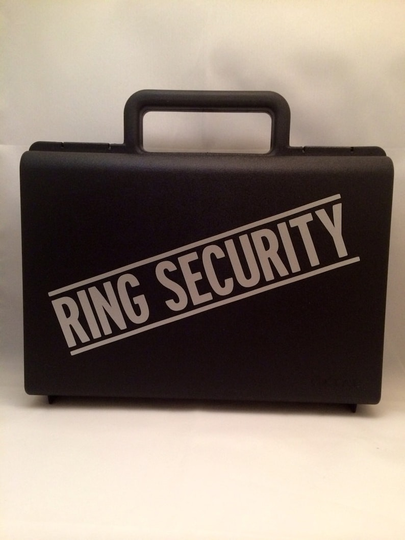 Ring Bearer Briefcase  Ring Security Case  Ring Security image 0