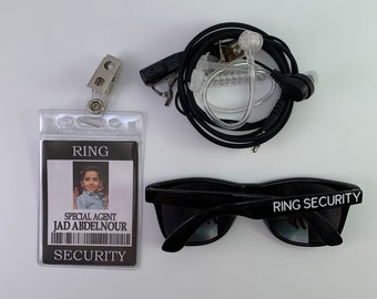 ID Badge - Ring Security Badge - Ring Bearer ID Badge with additional options - Wedding Ring Bearer Alternative - Ring Bearer Gift