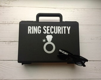 Ring Security Briefcase plus Sunglasses, Ring Bearer Briefcase, Ring Bearer Gift, Ring Security Briefcase