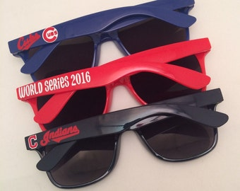 Personalized Sunglasses, Baseball Sunglasses, Chicago, Cubs, Cleveland, Indians, Birthday Gift, Custom Sunglasses, Sports Team Sunglasses