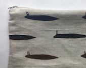 Slug #3 Cotton Linen Purse Pouch