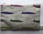 Slug #4 Cotton Linen Purse Pouch