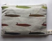 Slug #1 Cotton Linen Purse Pouch