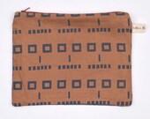 SALE Face Pattern Cotton Purse Pouch