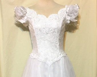 1d4ea402f98 Sweet Vintage Bridal Dress by Jessica McClintock