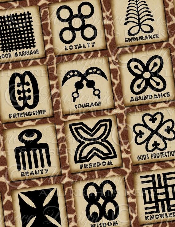 Adinkra Symbols Of West Africa Printable African Symbols Etsy