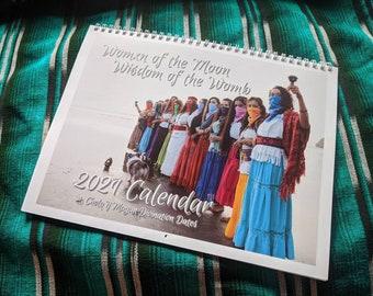 2021 Calendar - Cholq'ij Mayan Calendar, Divination Calendar, Lunar Calendar, Ceremonial Photoshoot, 9 Moons, Spirit Medicines, Tzolkin