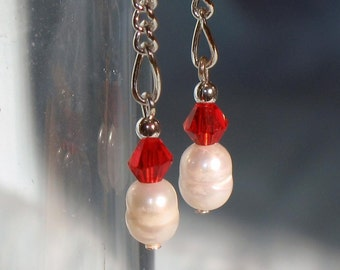 Simple Freshwater Pearl Drop Earrings