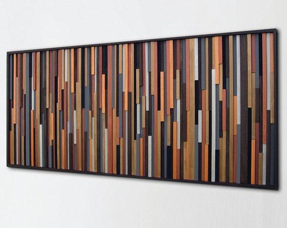 Wood Wall Art Sculpture Wall art on Wood Painted wood Art | Etsy