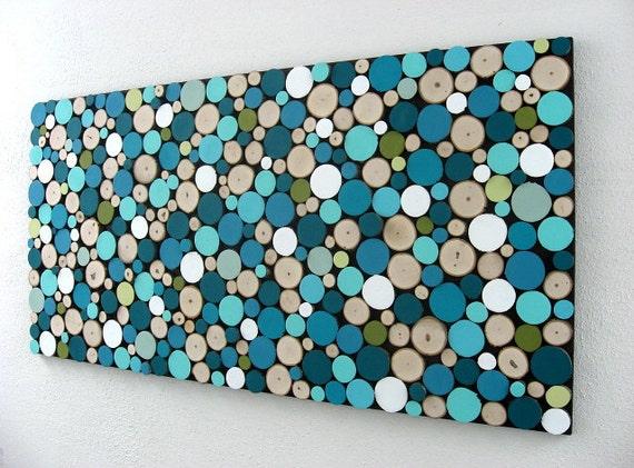 Blue Abstract Art Abstract Circles Blue Wall Art Shades Of
