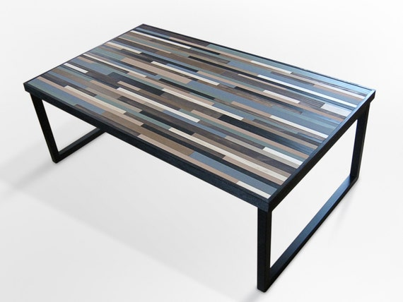 Reclaimed Wood Table, Modern Industrial Wood Coffee Table with Square Metal  Legs - Desk - Side - Furniture - Home Decor - Wood