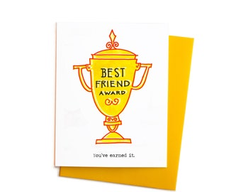 Best Friend Award Greeting Card