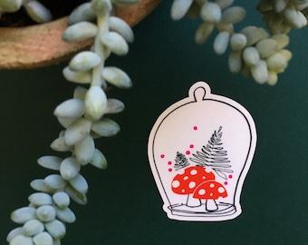 Mushroom Cloche Sticker