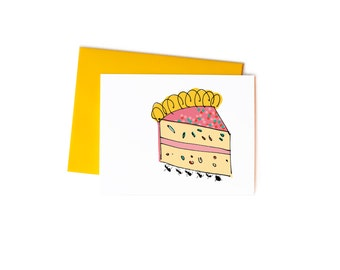 Funny Birthday Card, Picnic Ants with Cake Single Greeting Card