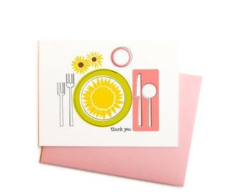 Dinner Table Thank You, Single Card