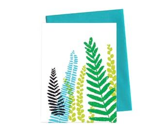 Spring Ferns, Single Card