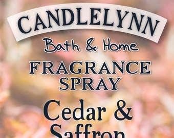Fragrance Spray - CEDAR and SAFFRON  8 oz - Bath & Home