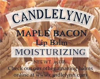 MAPLE BACON Lip Balm by Candle Lynn - Made with Organic Shea and Cocoa Butters
