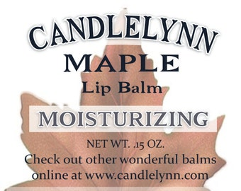 MAPLE Lip Balm by Candle Lynn - Made with Organic Shea and Cocoa Butters