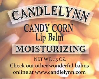 CANDY CORN Lip Balm by Candle Lynn - Made with Organic Shea and Cocoa Butters