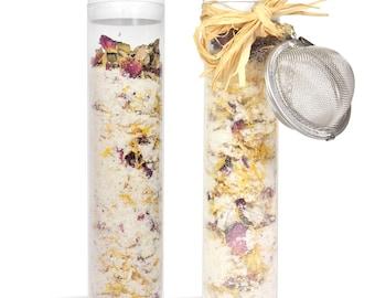 12 oz Luxurious Bath Salt - Chamomile Epsom Salts, Dead Sea Salts, Calendula & Rose Petals, Buttermilk Powder and More