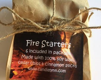 FIRE STARTERS - 2 packages - Cedar -  Campfire, Charcoal Grill, Fireplace